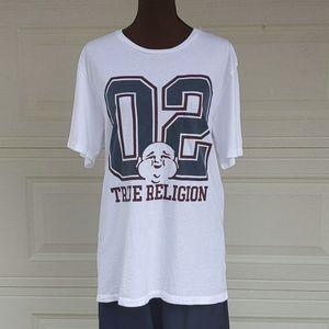 True Religion Buddha White Graphic TShirt